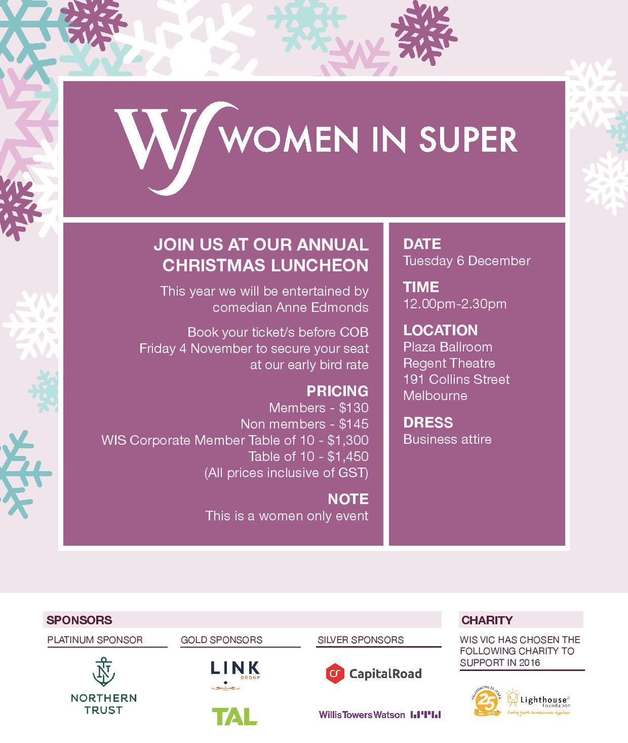 women in super vic christmas luncheon 2016 women in super